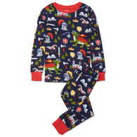 Hatley Boy's Knights & Dragons Organic Cotton Long-Sleeve Pajama Set