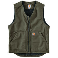 Carhartt Men's Big & Tall Washed Duck Sherpa-Lined Vest
