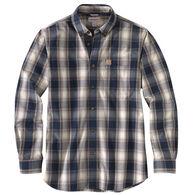 Carhartt Men's Essential Plaid Button Down Long-Sleeve Shirt