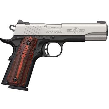 Browning 1911-380 Black Label Pro American Flag 3-Dot / Rail 380 ACP 3.6 8-Round Pistol