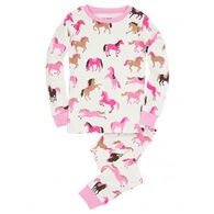 Hatley Girls' Hearts & Horses Pajama Set