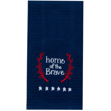 Kay Dee Designs Home of The Brave Embroidered Waffle Towel
