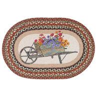 Capitol Earth Wheelbarrow Oval Patch Rug