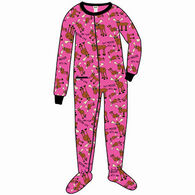 Lazy One Toddler Girls' Don't Moose With Me Footeez Pajamas