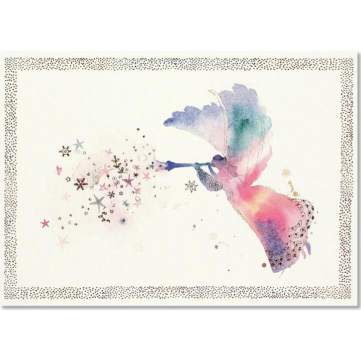 Peter Pauper Press Watercolor Angel w/Keepsake Box Deluxe Holiday ...