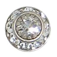 Baked Beads Women's Crystal Disc Post Earring