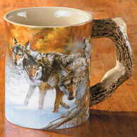Wild Wings Wolves Sculpted Mug