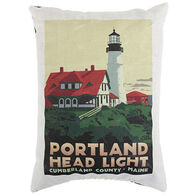 Maine Balsam Fir Portland Head Light Pillow