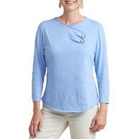 Habitat Women's Surplice Button 3/4-Sleeve Top