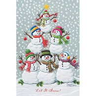 Pumpernickel Press Tree Of Snowmen Deluxe Boxed Greeting Cards