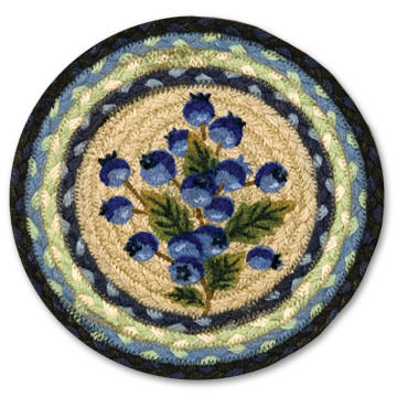 """Capitol Earth Blueberry 10"""" Round Braided Rug"""