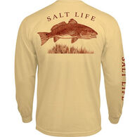 Salt Life Men's Reeling Reds Pocket Long-Sleeve T-Shirt