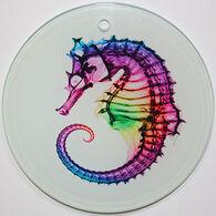 Radiant Art Rainbow Seahorse Ornament