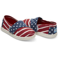 TOMS Boy's Canvas Alpargata Slip-On Shoe