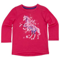 Carhartt Infant/Toddler Girl's Rise And Ride Short-Sleeve T-Shirt