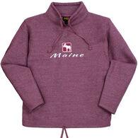 Renegade Club Women's Moose Maine Fleece Funnel Neck Sweatshirt