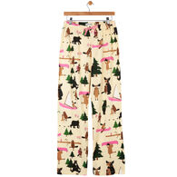 Hatley Little Blue House Women's Bear Hugs Jersey Pajama Pant