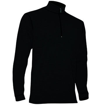 Polarmax Mens Micro H2 Zip Mock Baselayer Top