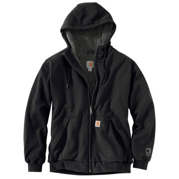 Carhartt Mens Rain Defender Rockland Sherpa-Lined Full Zip Hooded Sweatshirt