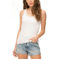 Mystree Women's Lace Edge Cami Tank Top