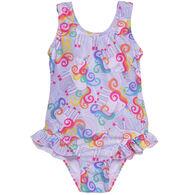 Flap Happy Girl's Delaney Hip Ruffle Swimsuit