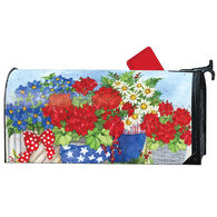 MailWraps Patriotic Floral Magnetic Mailbox Cover