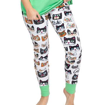 Lazy One Womens Catitude Legging Pajama Pant