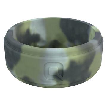 Qalo Mens Brush Camo Step Q2X Silicone Ring