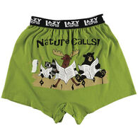 Lazy One Men's Nature Calls Comical Boxer Short