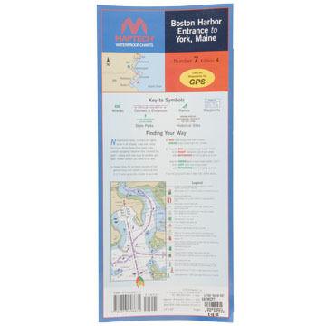 Maptech Folding Waterproof Chart - Boston Harbor Entrance to York, ME