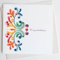 Quilling Card Rainbow Swirl Congrats Card