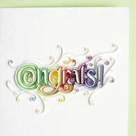 Quilling Card Congratulations Letter Card