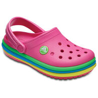 Crocs Boys' & Girls' Crocband Rainbow Band Clog