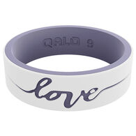 Qalo Women's Strata Love Silicone Ring