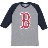 47 Brand Men's Boston Red Sox Raglan 3/4-Sleeve Night T-Shirt