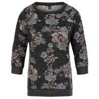 Tribal Women's Floral Print 3/4-Sleeve Top