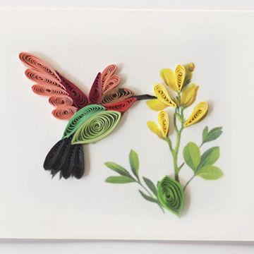 Quilling Card Hummingbird Gift Enclosure Card