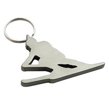 Munkees Skier Keychain Bottle Opener