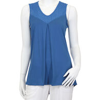 North River Women's Polyester Stretch V-Neck Tank Top