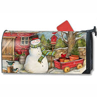 MailWraps Red Barn Snowman Mailbox Cover