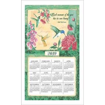 Kay Dee Designs 2019 Wings & Blossoms Calendar Towel