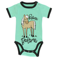 Lazy One Infant Pasture Bedtime Mint Horse Creeper Onesie