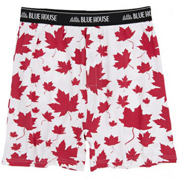 Hatley Men's Maple Leaves Boxer