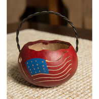 Meadowbrooke Gourds American Flag Basket Gourd