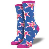 Socksmith Design Women's Lilies Crew Sock