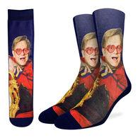 Good Luck Sock Men's Sir Elton John on Chair Crew Sock