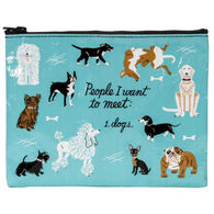 Blue Q Women's People I Want to Meet: Dogs Zipper Pouch