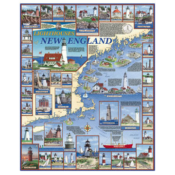 White Mountain Jigsaw Puzzle - Lighthouses Of New England