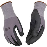 Kinco Men's Nylon Knit Shell & Micro-Foam Nitrile Palm Glove