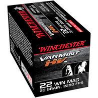 Winchester Varmint HV 22 Winchester Magnum 30 Grain JHP Ammo (50)